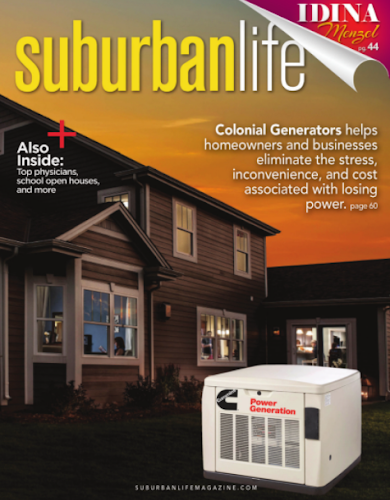 the cover image of the suburban life magazine cover featuring colonial generators